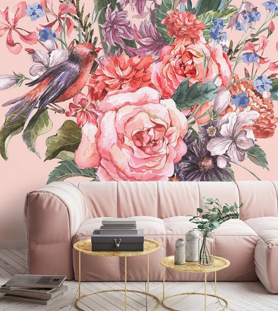 Pristatome įspūdingą foto tapetų kolekciją su gėlėmis
